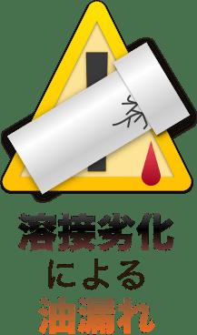 溶接劣化による油漏れ